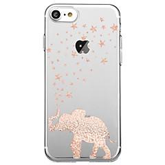 Назначение iPhone X iPhone 8 Чехлы панели Ультратонкий Прозрачный Задняя крышка Кейс для Слон Мягкий Термопластик для Apple iPhone X