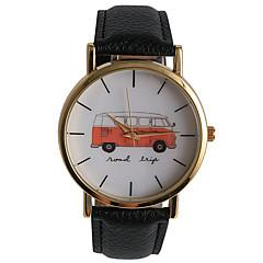 お買い得  大特価腕時計-男性用 リストウォッチ クォーツ レザー バンド ハンズ チャーム ヴィンテージ カジュアル ブラック / 白 / ブラウン - ホワイト ブラック Brown