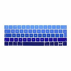 お買い得  MAC 用キーボード カバー-xskn®ヨーロッパ英語勾配シリコンキーボードスキンやタッチバー網膜と13.3 / 15.4プロ2016の最新のMacBook用touchbarプロテクター