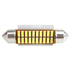 ziqiao 41mm 20 SMD LED 4014 CANbus auto slinger interieur gloeilampen (12v / 2 stuks)