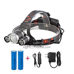 お買い得  ヘッドランプ-U'King ヘッドランプ ヘッドライト LED 2400 lm 4.0 モード LED バッテリー&チャージャー付き コンパクトデザイン 小型 キャンプ/ハイキング/ケイビング 日常使用 サイクリング 狩猟 旅行 ワーキング 多機能 登山 屋外