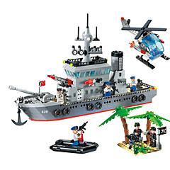 820 مجموعة اصنع بنفسك أحجار البناء ألعاب ألعاب سفينة حربية سفينة الفتيان 614 قطع