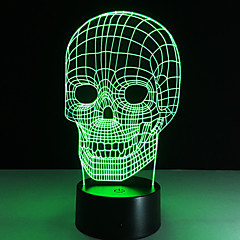 お買い得  LED アイデアライト-1枚 3Dナイトライト リモートコントロール 変色 スマールサイズ ナイトビジョン リモコン7色 アクリル
