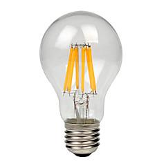 お買い得  LED 電球-1個 8W 700-750lm E27 フィラメントタイプLED電球 A60(A19) 8 LEDビーズ COB 温白色 クールホワイト 220-240V