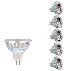 cheap LED Bulbs-6Pcs 5W GU5.3(MR16) LED Spotlight MR16 1 COB 380-400 lm Warm White Cold White 3000/6500 K DC 12 AC 12 V