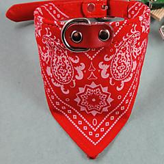 お買い得  犬用首輪/リード/ハーネス-ネコ 犬 カラー 調整可能 / 引き込み式 縞柄 ファブリック レッド ブルー