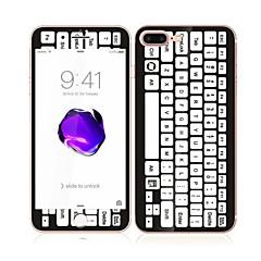 для Apple Iphone 7 плюс 5,5 закаленного стекла с мягким краем передней полный охват экрана и задний экран рисунка протектора клавиатуры