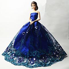 abordables Ropa para Barbies-Fiesta/Noche Vestidos por Muñeca Barbie  Tela de Encaje Organdí Vestido por Chica de muñeca de juguete