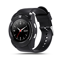 billige Elegante ure-kimlink® v8 smartwatch kamera berøringsskærm håndfri opkald pedometer fjernbetjening fitness tracker