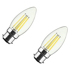 4W B22 E26/E27 Ampoules à Filament LED CA35 4 COB 360 lm Blanc Chaud 2700-3500 K Intensité Réglable V