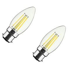 preiswerte LED-Birnen-ONDENN 2pcs 4 W 350 lm B22 / E26 / E27 LED Glühlampen CA35 4 LED-Perlen COB Abblendbar Warmes Weiß 85-265 V / 2 Stück / RoHs