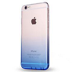 Käyttötarkoitus iPhone X iPhone 8 kotelot kuoret Ultraohut Läpinäkyvä Takakuori Etui Color Gradient Pehmeä TPU varten Apple iPhone X