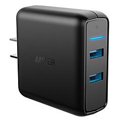 Lille og mobil oplader til iPad Til mobiltelefon Til tablet 2 USB-porte US Stik