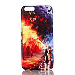 Недорогие Кейсы для iPhone 6 Plus-Кейс для Назначение Apple iPhone 7 Plus iPhone 7 Ультратонкий С узором Кейс на заднюю панель Вид на город Твердый ПК для iPhone 7 Plus