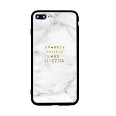 お買い得  iPhone 5S/SE ケース-ケース 用途 Apple iPhone X / iPhone 8 パターン バックカバー マーブル ハード アクリル のために iPhone X / iPhone 8 Plus / iPhone 8