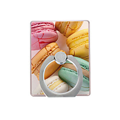 Macarons Pattern Plastic  Ring Holder / 360 Rotating for Mobile Phone iPhone 8 7 Samsung Galaxy S8 S7