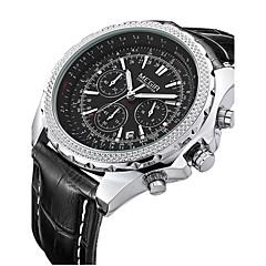 preiswerte Tolle Angebote auf Uhren-MEGIR Herrn Armbanduhr Quartz 30 m Kalender Leder Band Analog Retro Schwarz / Braun - Schwarz Schwarz Weiß / Braun