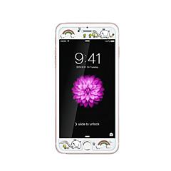για Apple iPhone 6 / 6δ συν 5.5inch γυαλί διαφανές προστατευτικό μπροστά οθόνης με ανάγλυφο καρτούν λάμψη μοτίβο στο σκοτάδι ουράνιο τόξο