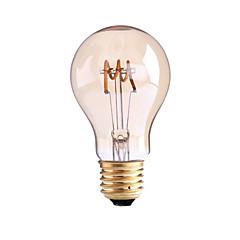 お買い得  LED 電球-1個 4W 1000lm E26 / E27 B22 フィラメントタイプLED電球 G60 1 LEDビーズ COB 調光可能 温白色 110-130V 220-240V