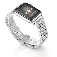 abordables Ofertas Semanales-Ver Banda para Apple Watch Series 4/3/2/1 Apple Hebilla de la mariposa Acero Inoxidable Correa de Muñeca