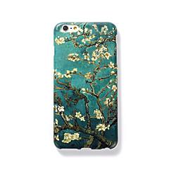 Недорогие Кейсы для iPhone 4s / 4-Кейс для Назначение Apple iPhone 7 Plus iPhone 7 Матовое С узором Рельефный Кейс на заднюю панель дерево Твердый ПК для iPhone 7 Plus