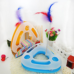 Cat Toy Pet Toys Interactive Teaser Feather Toy Tubes & Tunnel Mouse ToySqueak / Squeaking Ball Track Disk Scratch Pad Cat Durable Track