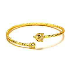 Браслет разомкнутое кольцо Природа Мода Готика бижутерия Медь Позолота 24K Plated Gold В форме животных Лиса Бижутерия Назначение Свадьба