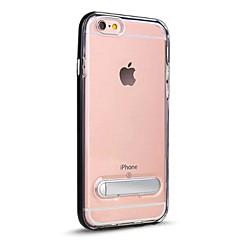 Недорогие Кейсы для iPhone 7 Plus-Кейс для Назначение Apple iPhone 7 Plus iPhone 7 со стендом Полупрозрачный Кейс на заднюю панель Сплошной цвет Твердый ПК для iPhone 7