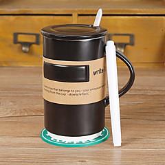 Klasyczny memo Szklanka 500 ml wyciskanie soku ceramiczny kubek kawy ze znakiem pióra