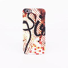 Для Матовое Рельефный С узором Кейс для Задняя крышка Кейс для Полосы / волосы Твердый PC для AppleiPhone 7 Plus iPhone 7 iPhone 6s Plus
