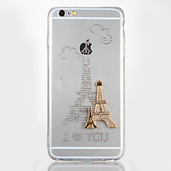 Mert Strassz DIY Case Hátlap Case Eiffel torony Kemény Akril mert AppleiPhone 7 Plus iPhone 7 iPhone 6s Plus iPhone 6 Plus iPhone 6s