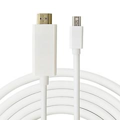 erkek 1.8m Mini dp erkek imac için macbook pro hava için adaptör hdmi kablo Mini DisplayPort hdmi için