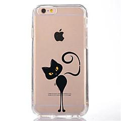 Недорогие Кейсы для iPhone 6 Plus-Кейс для Назначение Apple iPhone 7 Plus iPhone 7 Прозрачный С узором Кейс на заднюю панель Кот Мягкий ТПУ для iPhone 7 Plus iPhone 7