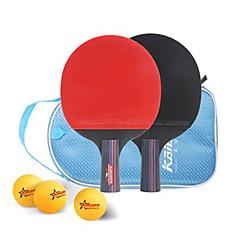 Ping Pang/Rakiety tenis stołowy Ping Pang Drewno Krótki uchwyt Pryszcze 2 Rakieta 1 Pokrowiec do tenisa stołowego 3 Piłeczki