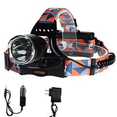 U'King Czołówki Reflektor LED 2000 lm 3 Tryb Cree XM-L T6 z ładowarkami Łatwe przenoszenie Obóz/wycieczka/alpinizm jaskiniowy Do użytku