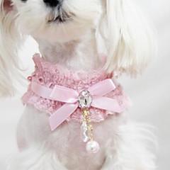저렴한 -강아지 칼라 패션 리본매듭 레이스 패브릭 블랙 핑크