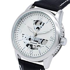 お買い得  メンズ腕時計-男性用 ファッションウォッチ クォーツ レザー バンド ハンズ カジュアル ブラック - ゴールド / ホワイト ブラック / シルバー ホワイト / シルバー