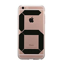 Недорогие Кейсы для iPhone 7-Кейс для Назначение Apple iPhone 7 / iPhone 7 Plus Прозрачный / С узором Кейс на заднюю панель Композиция с логотипом Apple Мягкий ТПУ для iPhone 7 Plus / iPhone 7 / iPhone 6s Plus