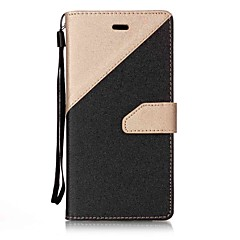 cheap Huawei P Series Cases / Covers-For Huawei P10 P8 Lite (2017) Case Cover Two Colors Stitching Card Stent Lanyard PU Material Phone Case Mate9 NOVA P9Lite Y6II Y5II