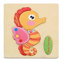 Kit de Bricolaje Juguete Educativo Puzzle Puzzles de Madera Juguetes Animales Niños 1 Piezas
