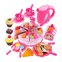 abordables Juegos de imaginación-Conjuntos de juguetes de cocina Comida de juguete Juegos de Rol Pastel Cuchillos de Pasteles y Galletas CLORURO DE POLIVINILO Niños Chico Chica Juguet Regalo