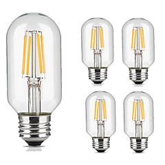 preiswerte LED-Birnen-5 Stück 4W 360lm lm E26/E27 LED Glühlampen T45 4pcs LED-Perlen COB Dekorativ Warmes Weiß Kühles Weiß 220V-240V