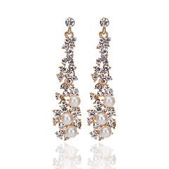 voordelige Druppeloorbellen-Dames Druppel oorbellen Imitatie Parel Uniek ontwerp Kristal Imitatieparel Legering Drop Sieraden Feest Dagelijks Causaal Kostuum juwelen