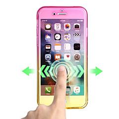 Kompatibilitás iPhone X iPhone 8 tokok Ultra-vékeny Teljes védelem Case Színátmenet Puha Hőre lágyuló poliuretán mert Apple iPhone X
