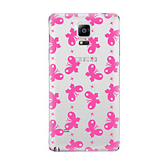 Для Прозрачный С узором Кейс для Задняя крышка Кейс для Бабочка Мягкий TPU для Samsung Note 5 Note 4 Note 3 Note 2