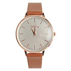 preiswerte Damenuhren-Damen Armbanduhr Japanisch / PU Band Freizeit / Modisch Schwarz / Weiß / Braun / Ein Jahr / Tianqiu 377