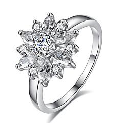 preiswerte Ringe-Damen Ring - Roségold, Zirkon, Aleación Blume 6 / 7 / 8 Weiß / Rose Für Party / Besondere Anlässe / Alltag
