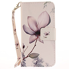 Недорогие Кейсы для iPhone 6 Plus-Кейс для Назначение Apple iPhone 7 / iPhone 7 Plus Кошелек / Бумажник для карт / со стендом Чехол Цветы Твердый Кожа PU для iPhone 7 Plus / iPhone 7 / iPhone 6s Plus