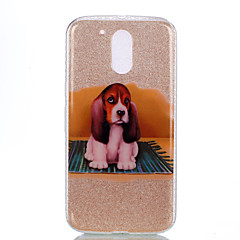 إلى IMD نموذج غطاء غطاء خلفي غطاء كلب لامع بريق ناعم PC إلى Motorola MOTO G4 Moto G4 Plus