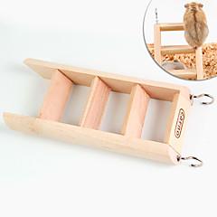 tanie Akcesoria dla małych zwierząt-Szynszyle Chomik Drewniany Przenośny/a Wielofunkcyjny Kołowrotki